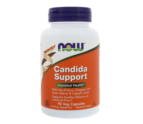 NOW Foods Candida Support | Добро Храносмилане, 90 капсули