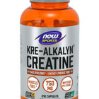 NOW Sports Kre-Alkalyn 750mg | Креатин, 240 капсули