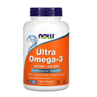 NOW Foods Ultra Omega 3 | Омега 3, 180 дражета