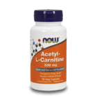 NOW Foods Acetyl L-Carnitine 500mg | Л-карнитин, 50 капсули