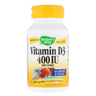 Nature's Way Vitamin D3 Dry Form 400 IU | Витамин D3, 100 капсули