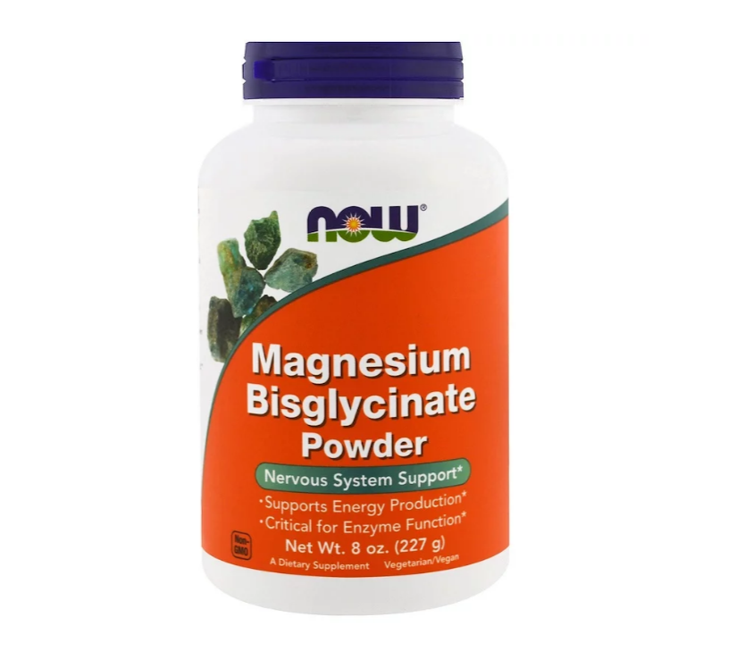 NOW Foods Magnesium Bisglycinate Powder | Магнезий, 227 гр.