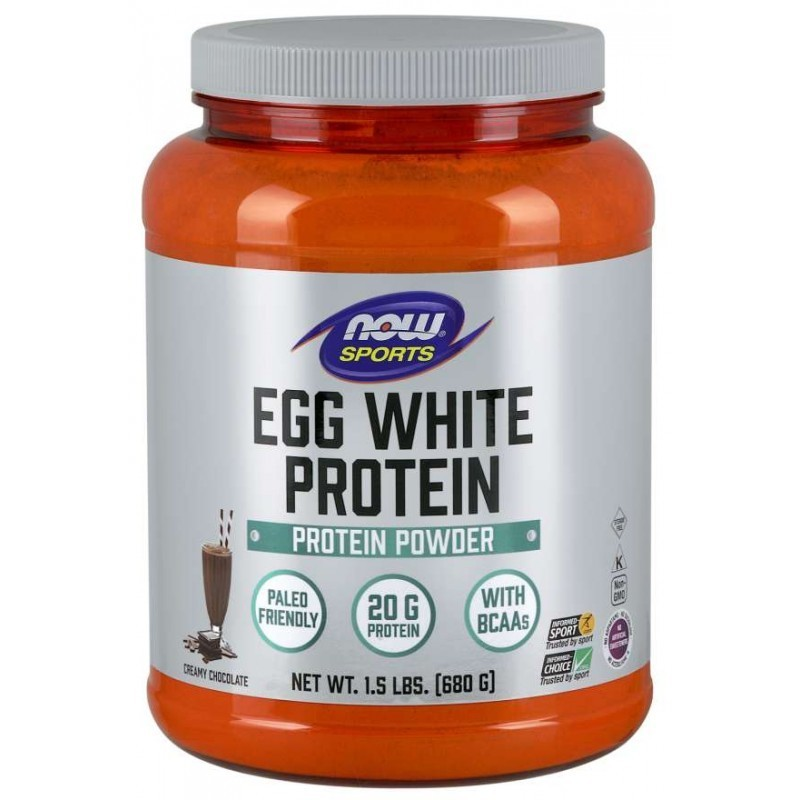 NOW Sports Eggwhite Protein | Яйчен Протеин, 680 гр.