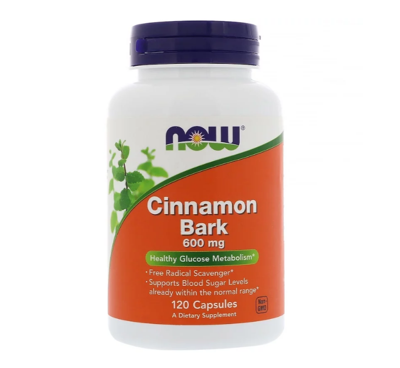 NOW Foods Cinnamon Bark 600mg | Канела екстракт, 120 капсули