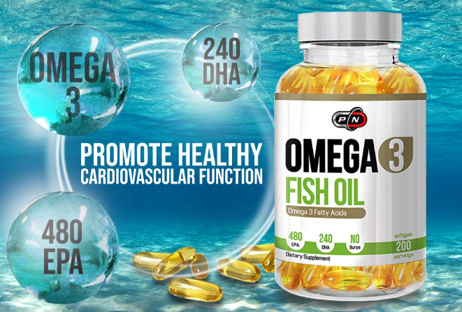 Pure Nutrition Omega 3 Fish Оil | Омега 3 рибено масло, 300 дражета