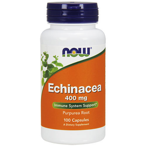 Now Foods Echinacea | Ехинацея 400мг, 100 вег.капсули