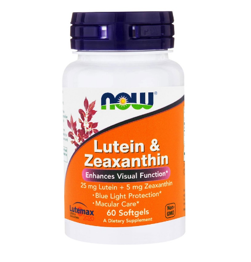 NOW Foods Lutein & Zeaxanthin | Лутеин и Зеаксантин, 60 дражета