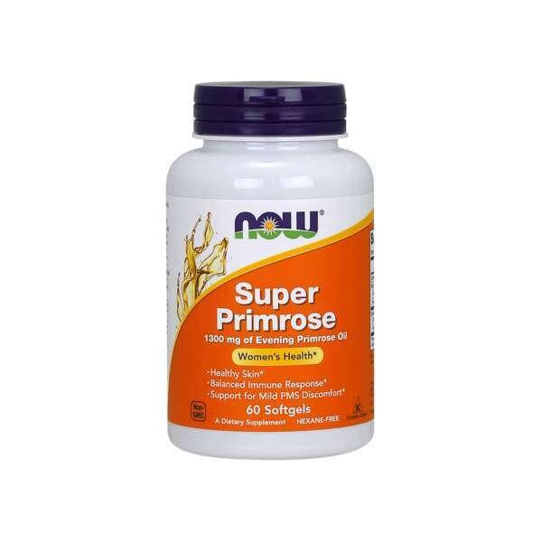 NOW Foods Super Primrose 1300mg | Масло от Иглика, 60 дражета