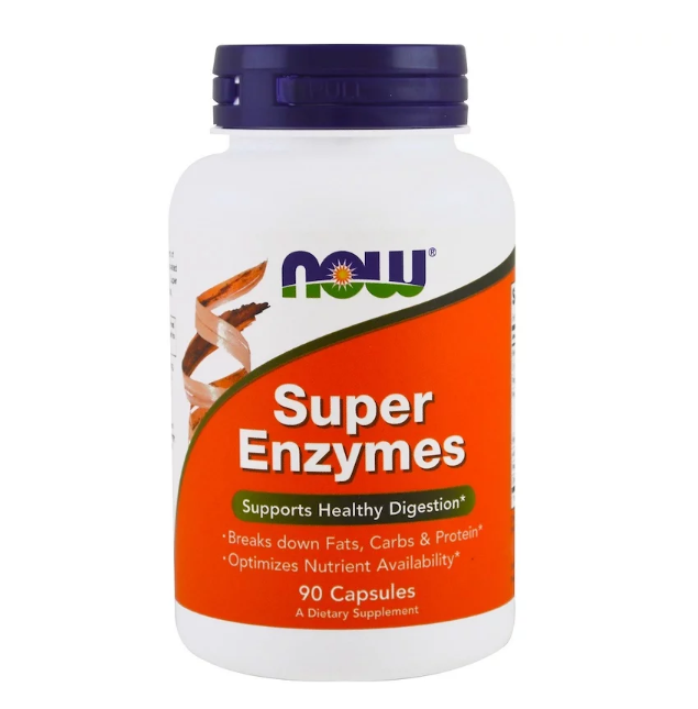 NOW Foods Super Enzymes | Супер ензими, 90 капсули