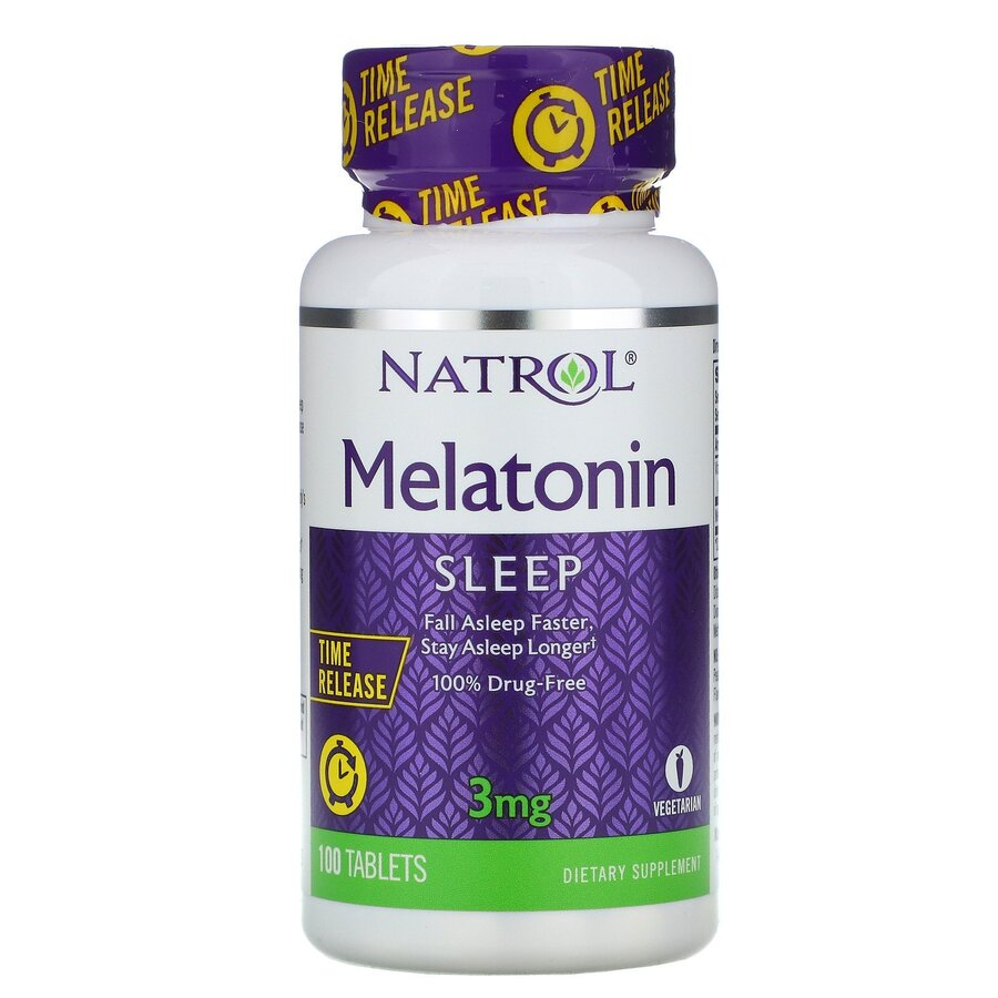 Natrol Melatonin Time Release 3mg | Мелатонин, 100 таблетки