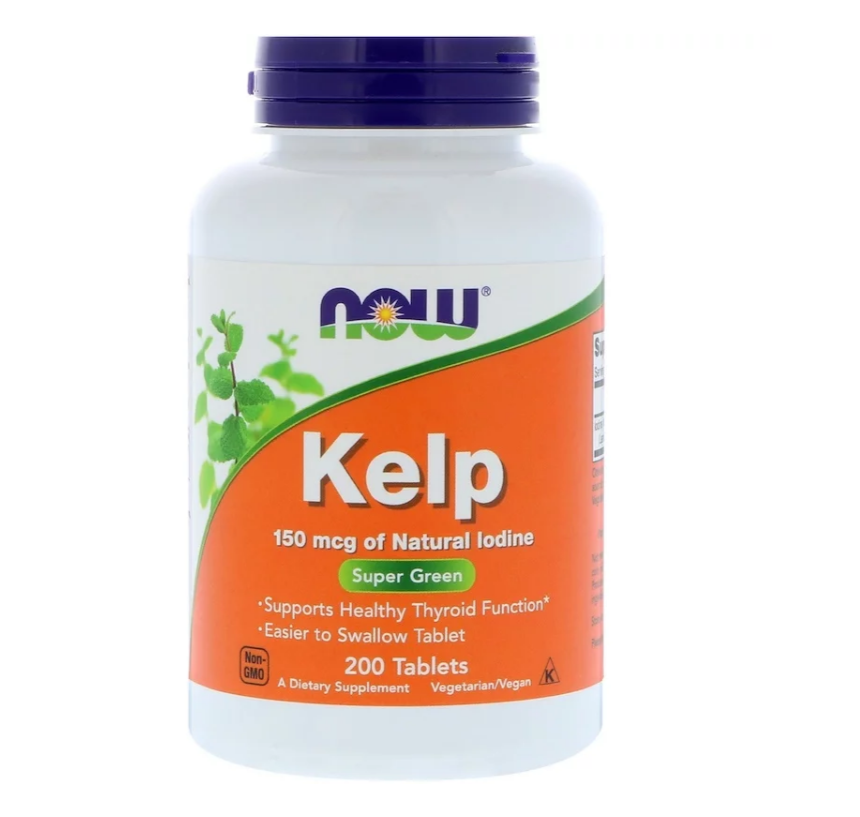 NOW Foods Kelp 150mcg | Йод, 200 таблетки