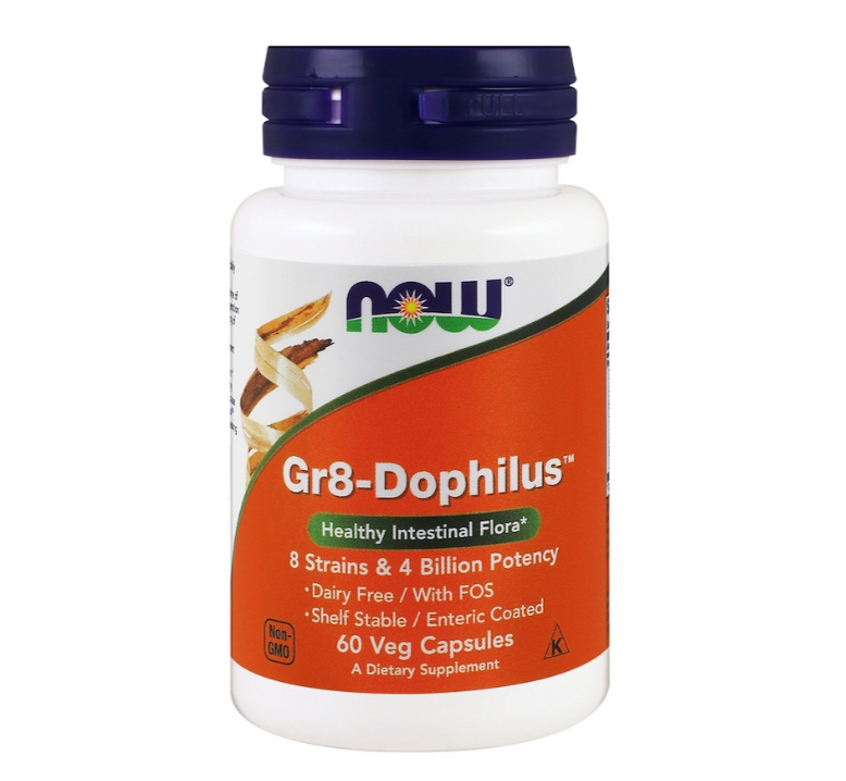 NOW Foods Gr8-Dophilus | Пробиотик, 60 вег. капсули