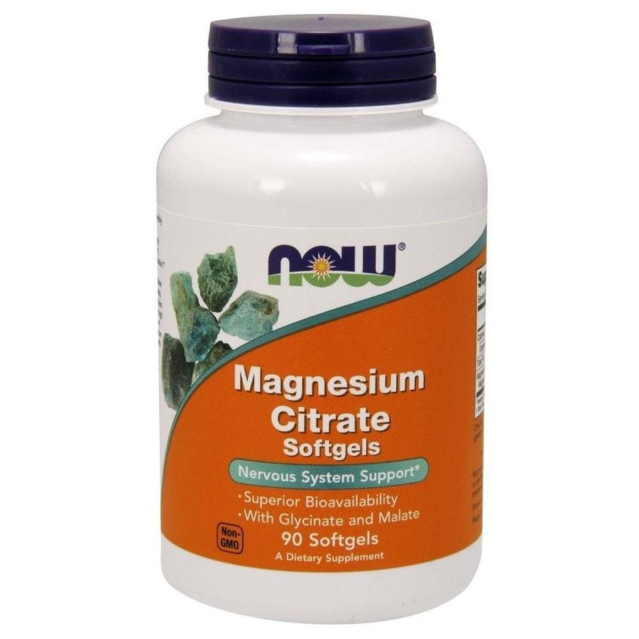 NOW Foods Magnesium Citrate | Магнезий, 90 дражета