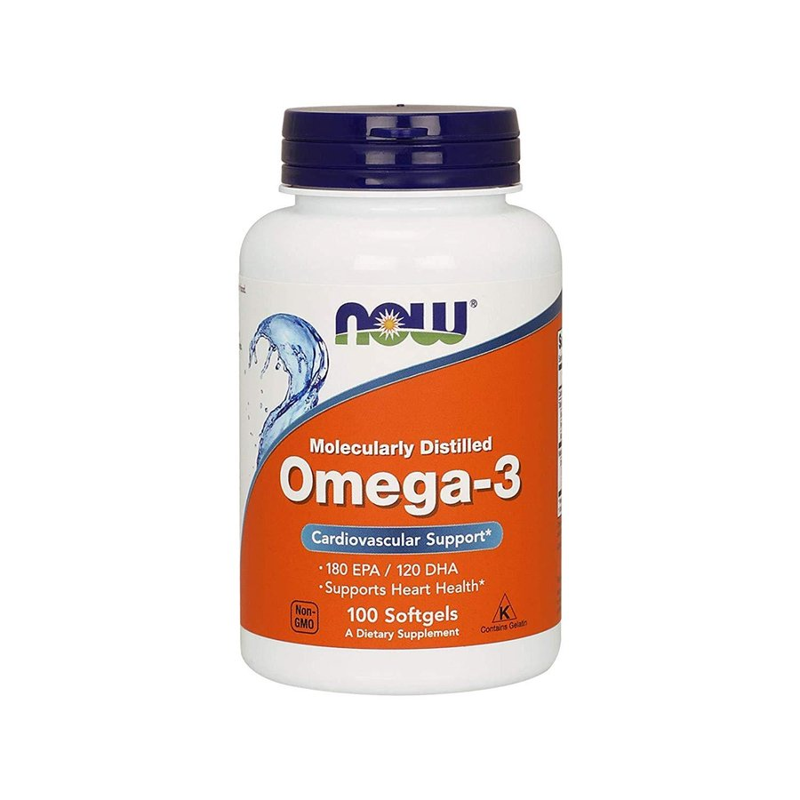 NOW Foods Omega-3 Molecularly Distilled Fish Oil | Омега-3, 1000мг., 100 дражета