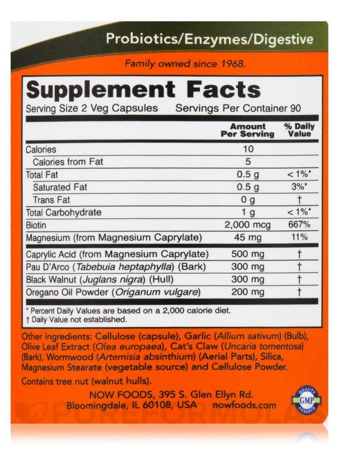 NOW Foods Candida Support | Добро Храносмилане, 180 капсули